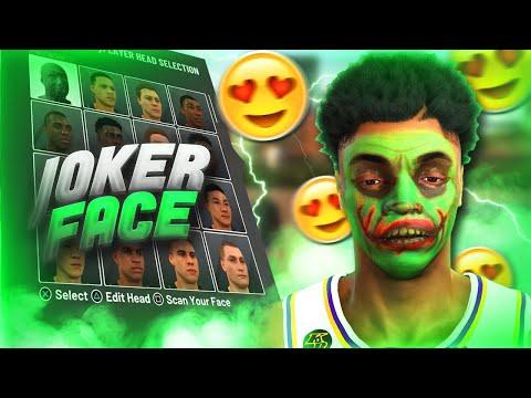 *RARE*JOKER FACE SCAN GLITCH! NBA 2K20🧟♂️ RAREST FACE SCAN IN THE GAME!!