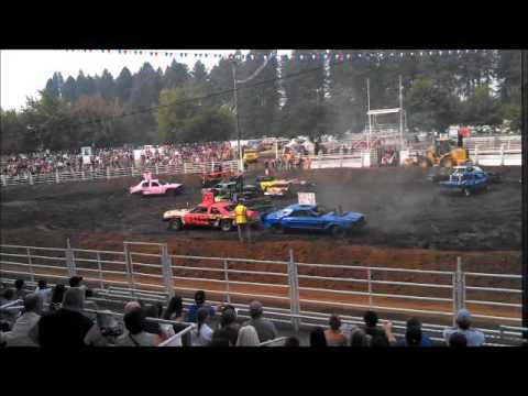 Canby Oregon Clackamas County Fair Demolition Derby 2015