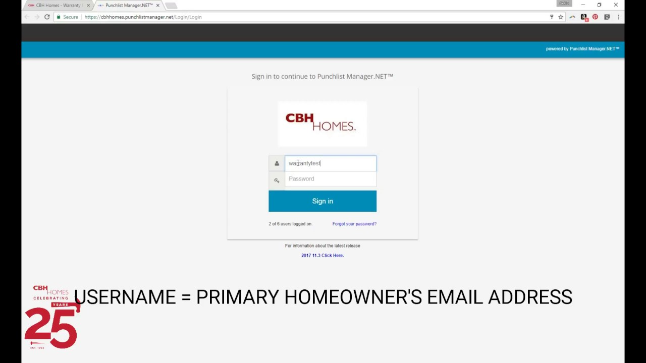 How to Login to CBH Homeowner Warranty Portal - YouTube