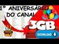 PRIMEIRO ANIVERSÁRIO DO CANAL E UM PRESENTE PARA VOCÊ UMA BIBLIOTECA COM MAIS DE 3 GB DE COMPOMENTES