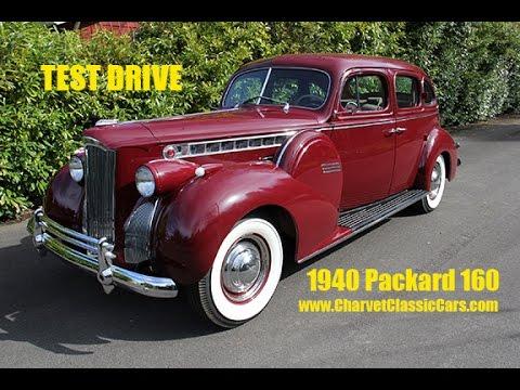 1940 Packard 160 Sedan Test Drive. Charvet Classic Cars