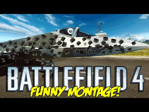 Battlefield 4 Funny Montage! Most EPIC Jet C4 , Fart Death, Surfing Jeeps & More ( Funny Moments)