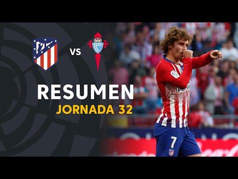 Resumen de Atlético de Madrid vs RC Celta (2-0)