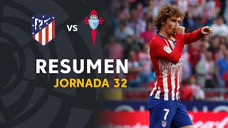 Resumen de Atlético de Madrid vs RC Celta (2-0)