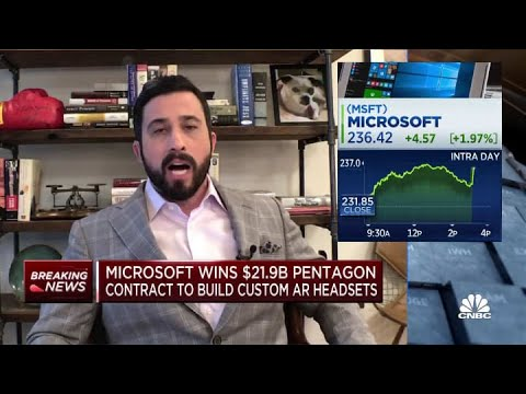Microsoft wins military contract that could be worth $22 billion over 10 years