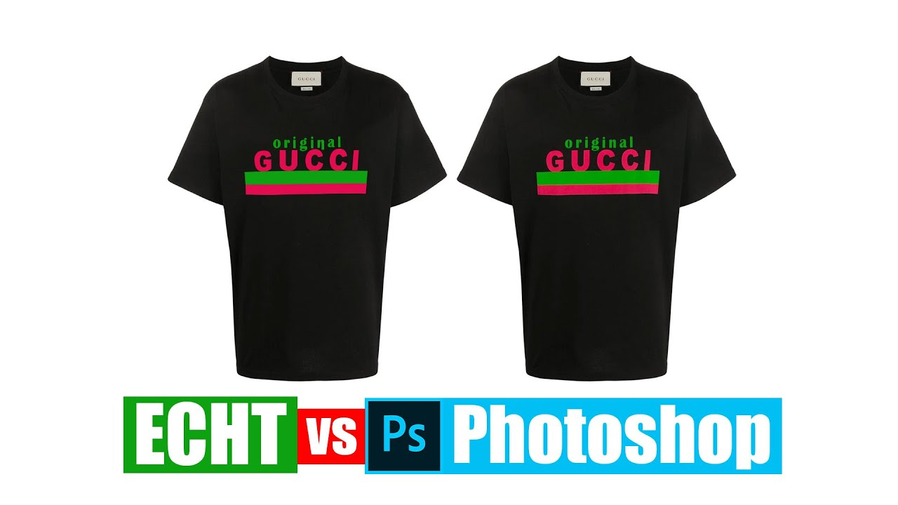 Gucci T-Shirt selber machen | Real vs Photoshop