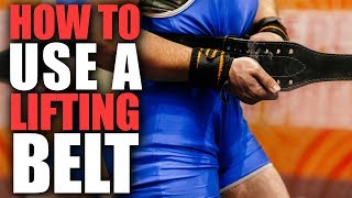 How to Use a Lifting Belt