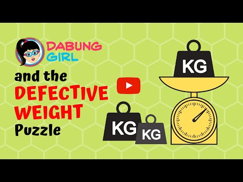 🤔 Defective Weight Puzzle | Can you find 1 defective weight from 5 weights? Critical Thinking