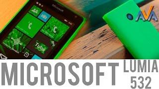 Смартфон Microsoft Lumia 532 обзор от AVA.ua(Смартфон Microsoft Lumia 532 – видео обзор от http://ava.ua/ . Сравнить цены на смартфоны Microsoft: http://ava.ua/category/9/52/b523/ Этот..., 2015-04-20T08:25:58.000Z)