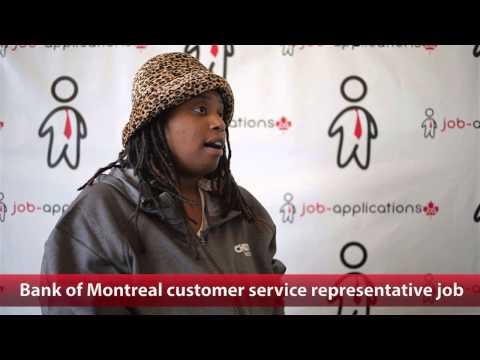 Bank of Montreal Customer Service Representative