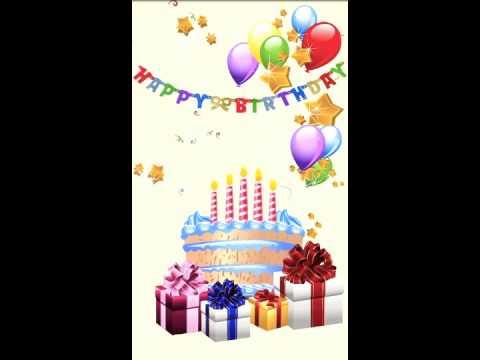 Happy Birthday Live Wallpaper Youtube