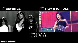 Download Itzy x (G)-idle & Beyonce - Diva [Comparison]