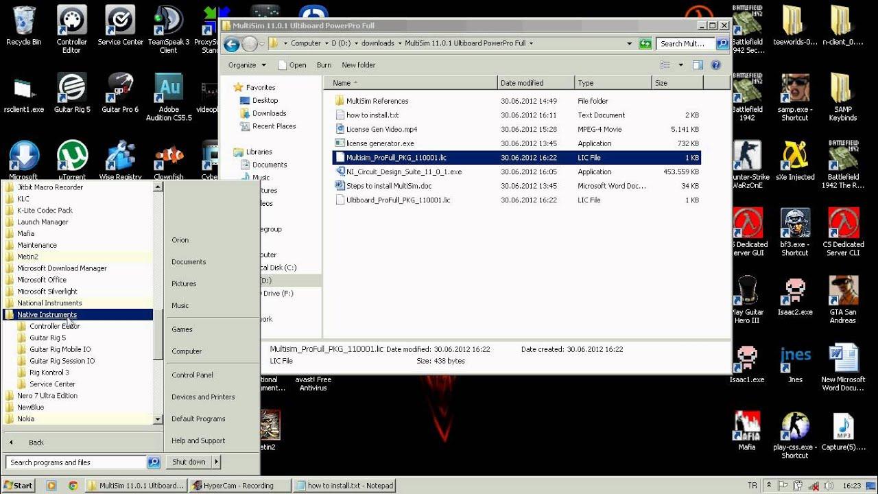 Multisim 11.0 free download