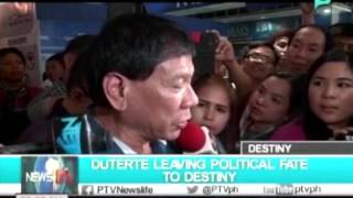 NewsLife: Duterte leaving political fate to destiny || Nov. 11, 2015