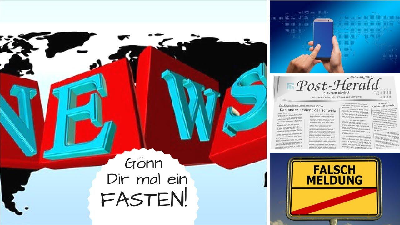 Nachrichtenfasten - Das solltest Du hin und wieder tun!