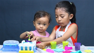 barmain play-doh double desserts playset dengan shanti - bayi lucu main play doh