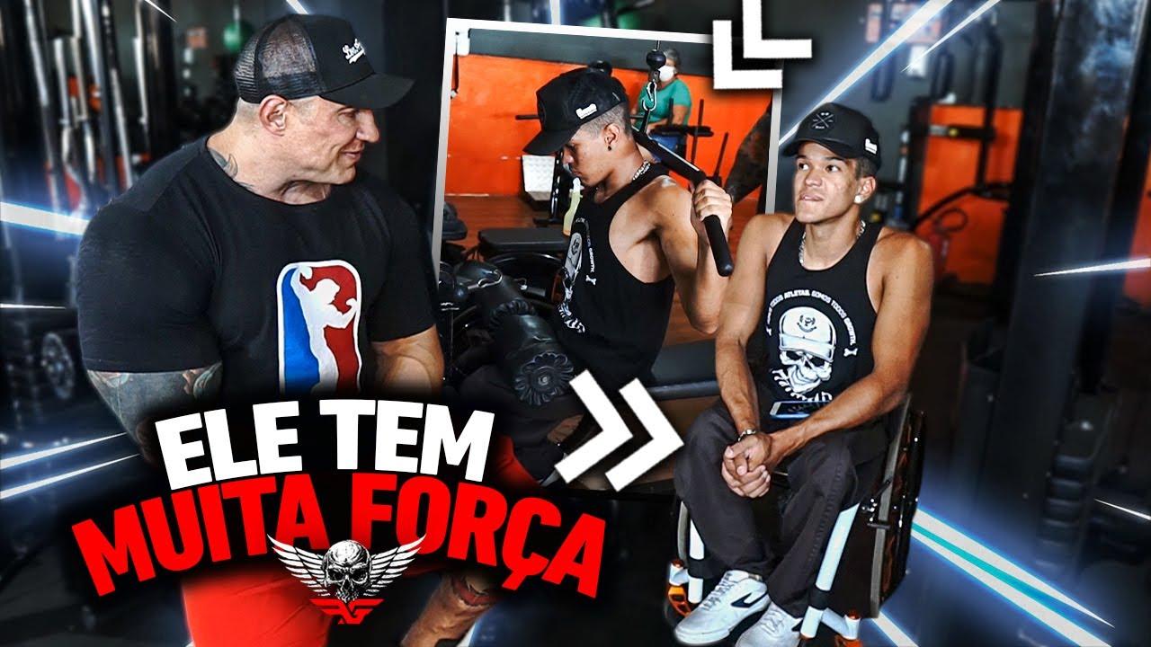 FABIO GIGA SE IMPRESSIONA COM FORÇA DO GAROTO CAIQUE