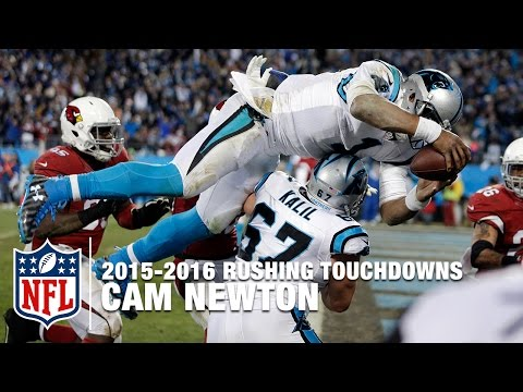All 10 of Cam Newton's Rushing TDs | 2015 NFL Season
