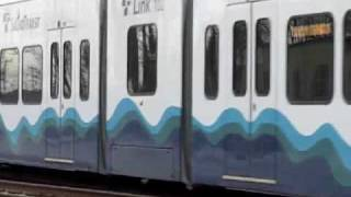 Link light rail testing on MLK in south Seattle