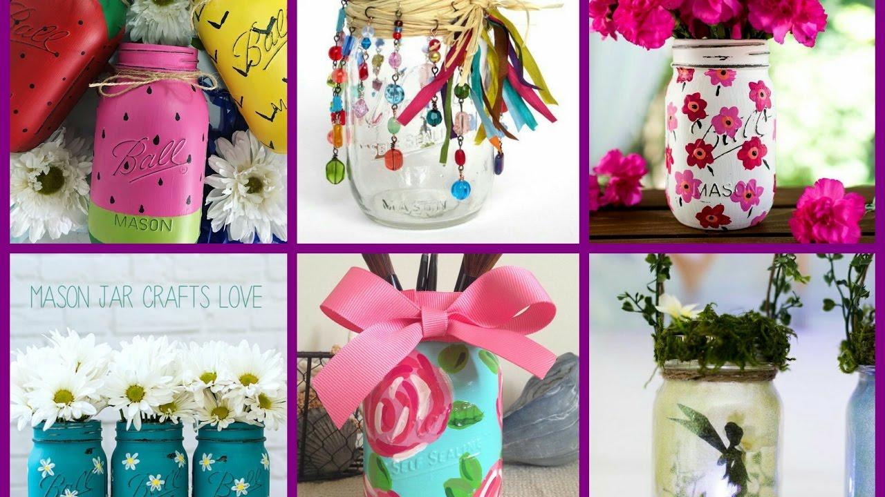 Summer Mason Jar Crafts Summer Jar Decorating Ideas Youtube