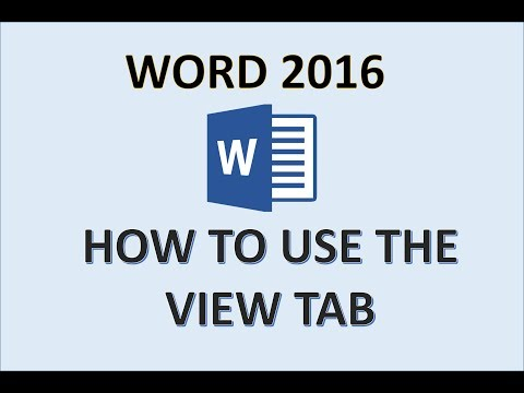 Word 2016 - View Tab - How To Use Print Layout, Outline, Draft, And Read Mode Views In Microsoft MS