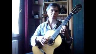 Prelude of the Cello suite BWV 1007 - J.S. Bach - Guitar version