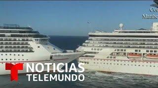 as-fue-el-impresionante-choque-de-dos-cruceros-en-cozumel-mxico-noticias-telemundo