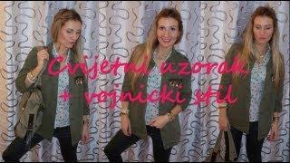 (OOTD) Jesenski modni trend: Vojnicki stil i cvijetni uzorak ♥ | SoniaVerardo