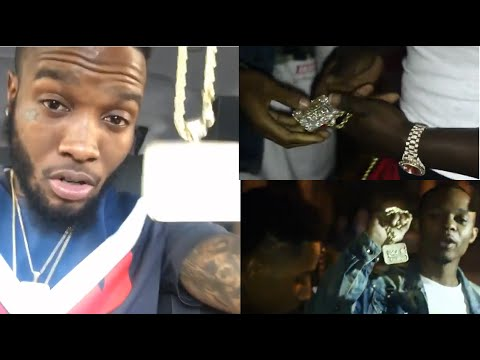 Shy Glizzy Stunts on Instagram with the Chain that was Bought back for $10,000 from Memphis Goons.