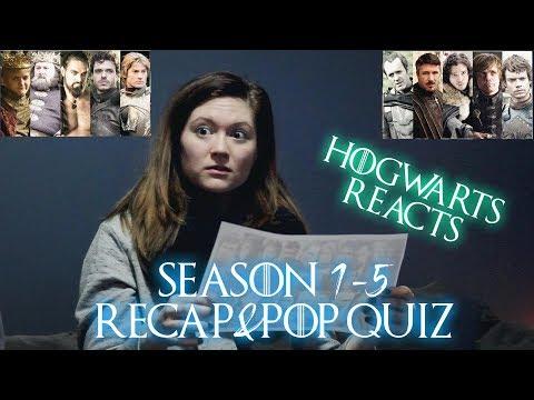 Hogwarts Reacts: Game of Thrones Season 1-5 Recap and Pop Quiz!