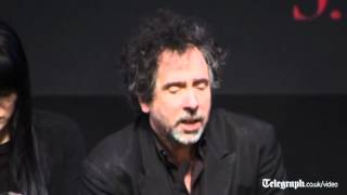 Tim Burton Falls Off Stage At Dark Shadows Press Conference