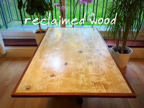 Diy Rustic Reclaimed Wood Coffee Table Part 1 Making The Top