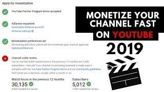How to monetize youtube channel fast 2018, 2019