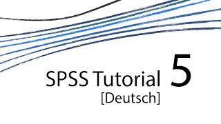 SPSS Tutorial 5 [D] – Symbolleiste I