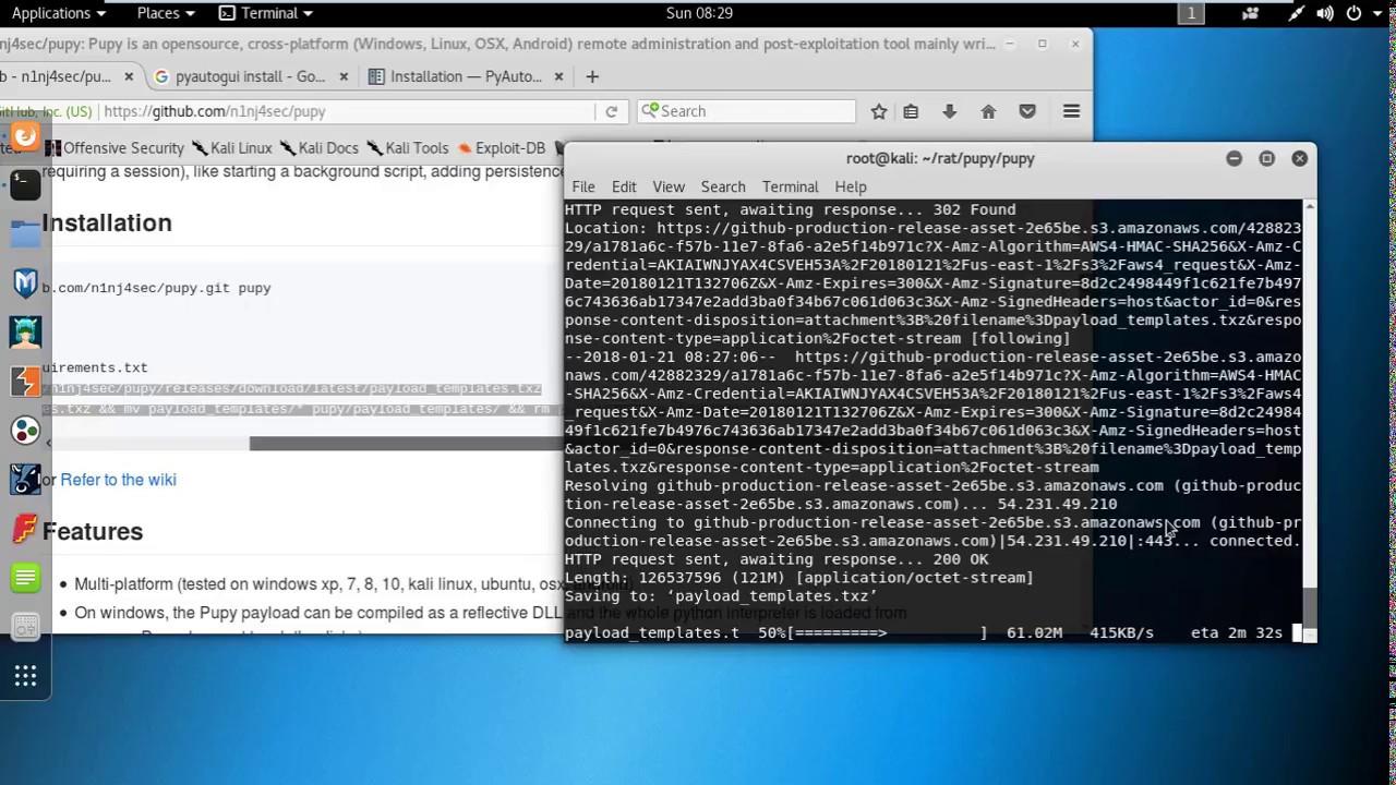 Fix Pupy RAT installation error in Kali Linux