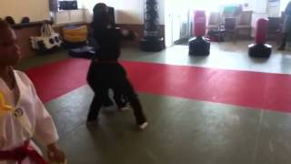 Two guys Grappling