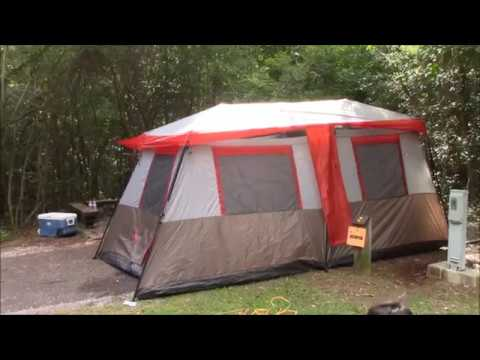 Ozark Trail 12 Person 3 Room L Shaped Instant Cabin Tent