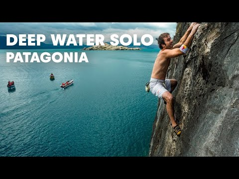 Patagonia deep-water soloing - Red Bull Psicobloc 2012