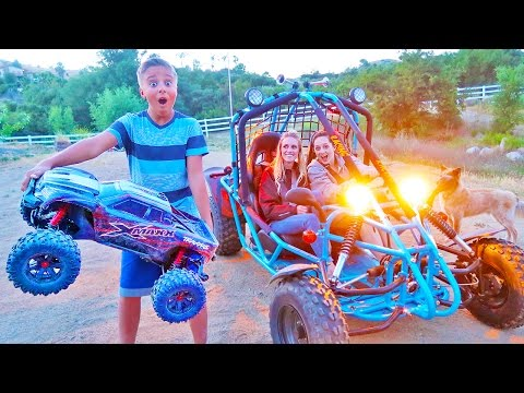 Impossible Backyard RC Truck & RC Boat Best Idea Ever! Carl and Jinger