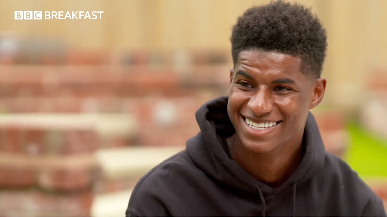 Marcus Rashford reacts to the new that his campaign for free school meals has succeeded.