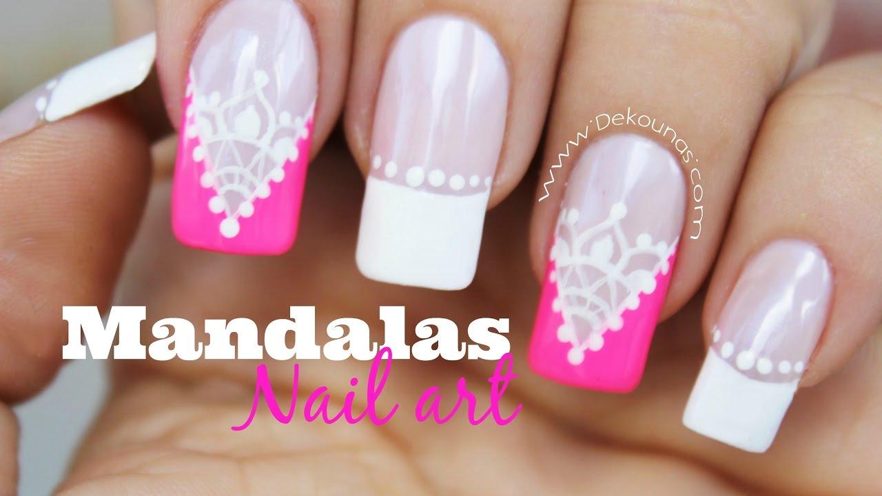 Decoración De Uñas Cortinas Mandalas Mandalas Nail Art Youtube