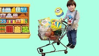 Zack Pretend Play Kids Size Shopping Cart Healthy Food Choices!