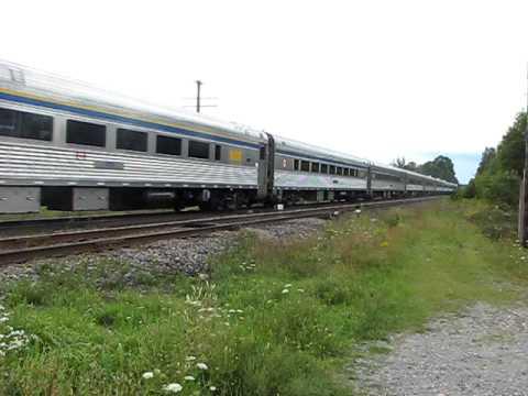 VIA Train 57 @ Newtonville Ontario 08/23/09 P42DC 919 leading Last Train of Ontario trip 2009