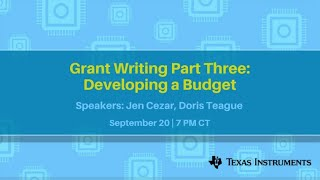 Webinar: Grant Writing Part Two: Writing a Statement of Need