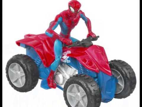 Spiderman motos juguetes hombre ara a juguetes youtube - Spider man moto ...