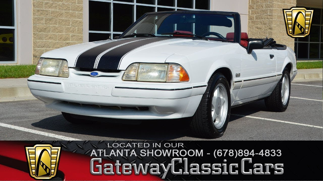 1992 Ford Mustang LX - Gateway Classic Cars of Atlanta - Stock #888 - ATL