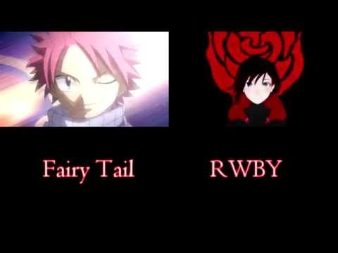 Fairy Tail as RWBY - This Will Be The Day (Opening 1) Comparison