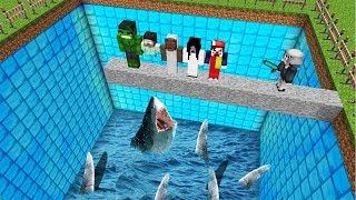 ÖLÜRSEN KÖPEK BALIĞI HAVUZUNA DÜŞERSİN! 😱 - Minecraft