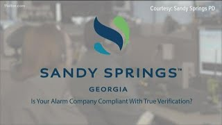 Sandy Springs police won't respond to burglar alarms without proof