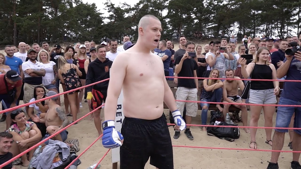 FAT MAN run into MMA SOLDIER !! Fast Fight !!